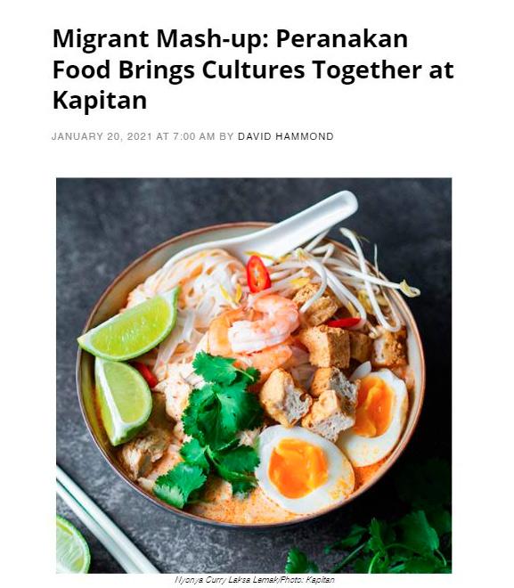 Migrant Mash-up: Peranakan Food Brings Cultures Together at Kapitan